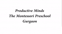 Productive Minds The Montessori Preschool